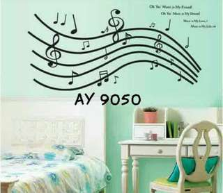 Wall Sticker Uk. 60x90 cm Motif Music Is My Friend