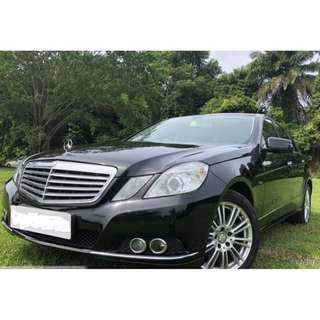Mercedes Benz E200 CGI Uber/Grab good for Executive/Premium car rental or personal use