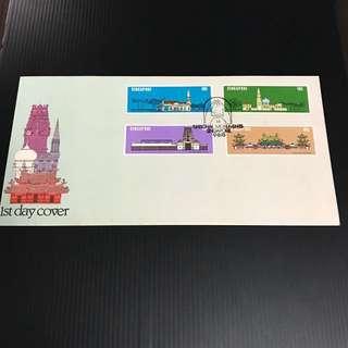 Singapore Stamp - S78-3 Singapore National Monuments FDC 首日封 星加坡邮票 1978