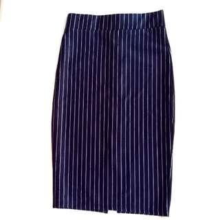 Pencil Skirt Stripe - Forever 21