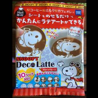 Snoopy Deco Latte拉花裝飾