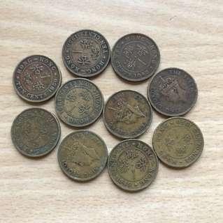 10個 1948-50年男皇一亳硬幣