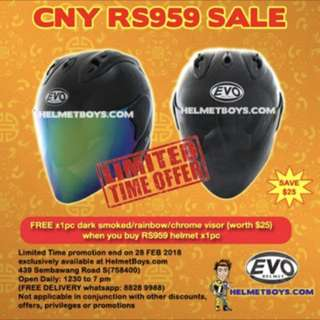 Chinese New Year EVO RS959 FREE Tinted Visor Promotion