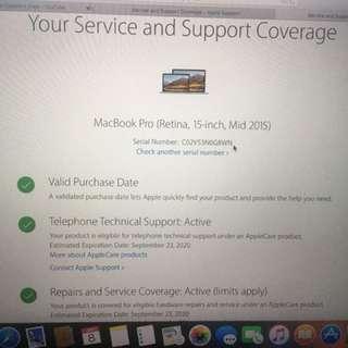 Macbook pro 2015 15''
