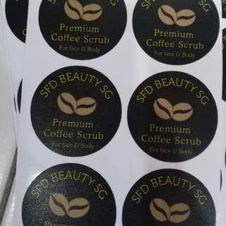 4cm round stickers