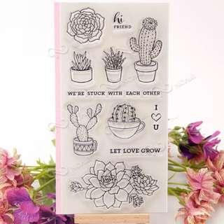 Cactus Sentiment Clear Stamp Set