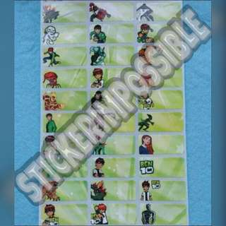 Ben 10 Name Sticker