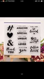Lovely Sentiments Clear Stamp Set