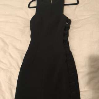 By Johnny black cut out side knot dress