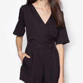 Something Borrowed Flutter Sleeve Romper