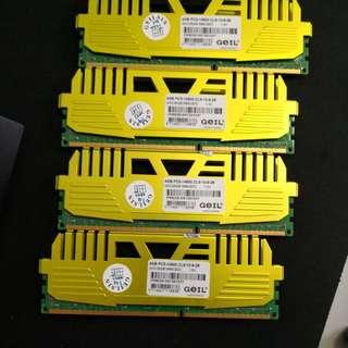 PC DDR3 1866 ram, 16 G total