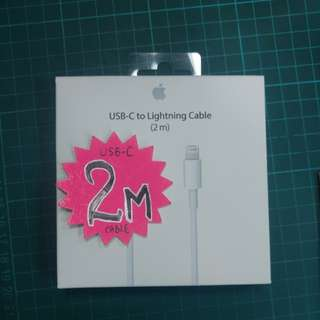 USB-C to lightning cable 2m