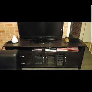 Timber TV unit
