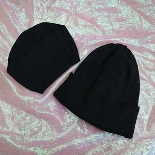 素色造型中性毛帽