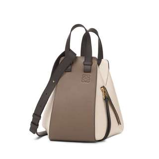 全新 LOEWE Hammock Small Bag Dark Taupe Multitone