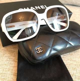 Chanel white sunglasses