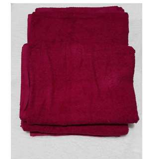 bath towel fuschia pink