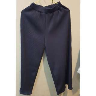 KULOT MIDI PLEATS PREMIUM NAVY BLUE