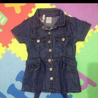 Preloved Dress Denim Baby Girl / Anak cewe