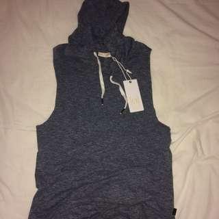 silent theory sleeveless hoodie