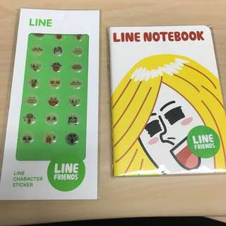 #Contiki2018 LINE notebook and sticker set