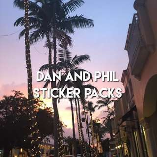 dan and phil sticker grabbags !!