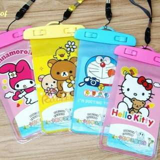 Pouch/Sarung Anti Air Morif Sanrio Cartoon