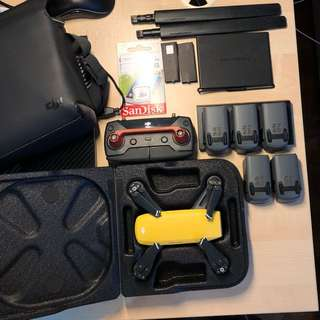 DJI Spark with a lot of stuff!