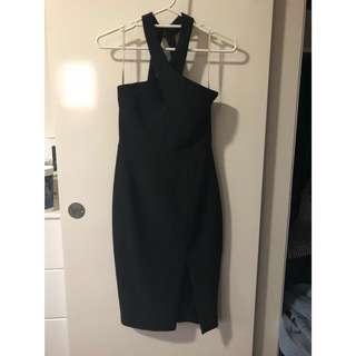 FORCAST cross neck midi dress size 6