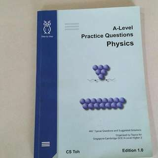 CS Toh A level H2 Physics Practice Questions