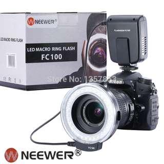 Neewer FC100 32 Super Bright LED Macro Ring Flash For Canon, Nikon,Olympus, Pentax SLR Cameras