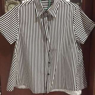 Stripped Black n White Blouse