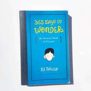 365 days of Wonder - by R.J Palacio