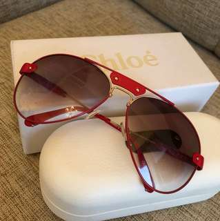 Chloe Red sunglasses
