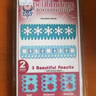 Spellbinders- Snowflake border