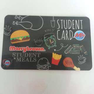 marry brown student card + free voucher