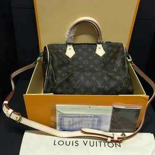 LV bag w/ box & auth receipt