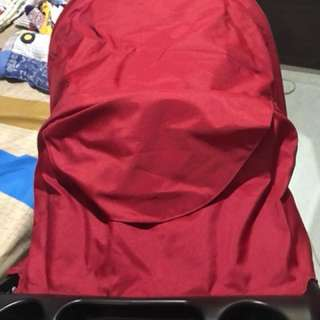 Joie red stoller with carseat (set)