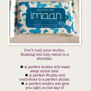 Imaan Suci Cleansing Wipes