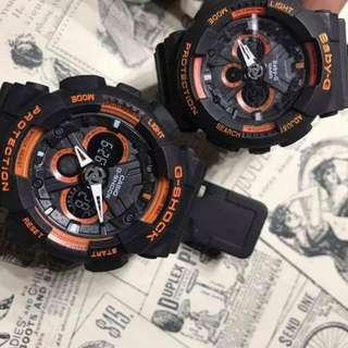 G-shock and Baby G Couple Watches