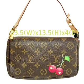 Louis Vuitton Monogram Cerises Cherry Pochette Accessories 手挽袋 100%真品