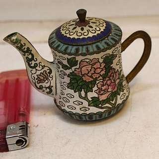 中國景泰藍小茶壺 擺設