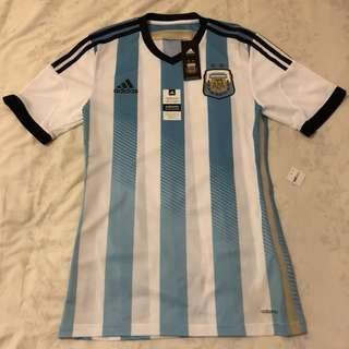 RARE ARGENTINA ADIDAS ADIZERO AUTHENTIC PLAYER ISSUE HOME 2014/15 FOOTBALL JERSEY SHIRT NEW SMALL