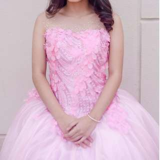 NEGOTIABLE! Baby Pink Debutante Long Gown (ELEGANT) • Chat for more details!