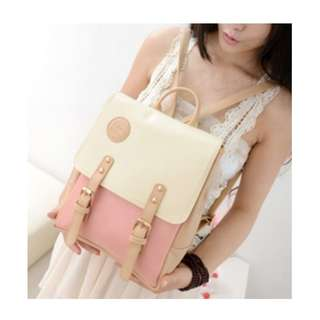 Pastel Color Stylish Leather Backpack