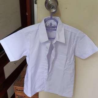 Baju kemeja putih sekolah saiz 12