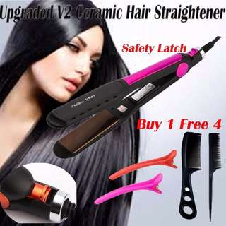Professional Upgraded Ceramic Hair Straightener Dual-use 3D Curling