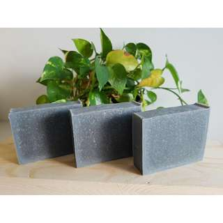 Charcoal & Bentonite Clay Soap with Tea Tree Essential Oil (100% Handmade Cold-process soap made in SG)