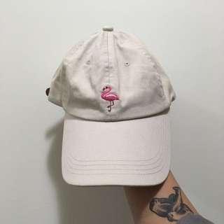 Cream Pink Flamingo Cap