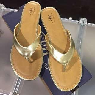Bass gold sandals